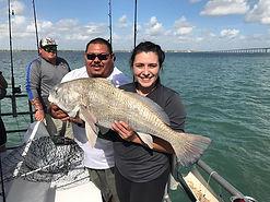 Fishing on the Danny B, landing the big one.