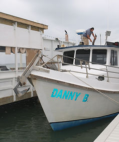 bay fishing trips on the danny b south padre island bay fishing trips locate next to Louie's Backyard south padre island restaurant will cook your catch