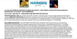 1 HALF SCR SHOT with NASDAQ LOGO RELEASE