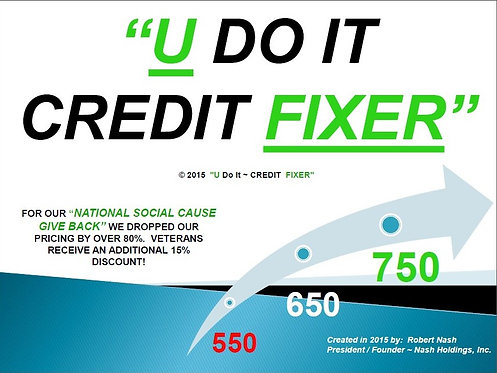 """U DO IT CREDIT FIXER"" BUY BOOK"