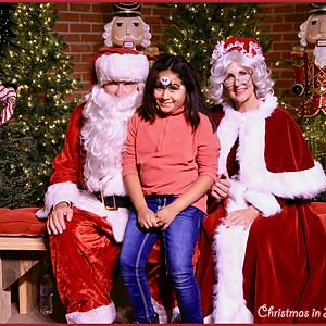2017 Christmas in Lindale Santa Photos