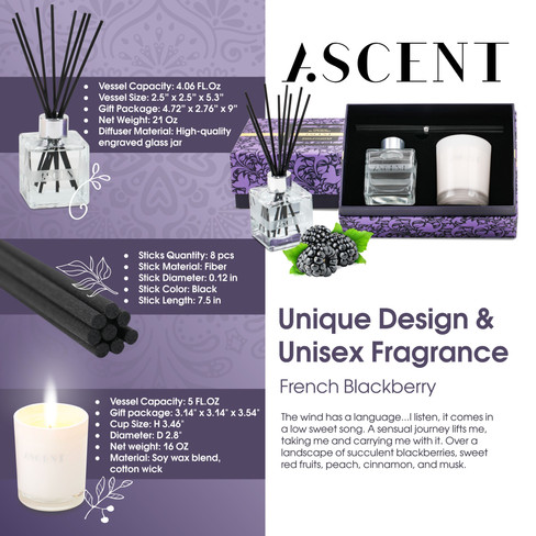 ASENT Reed Diffuser Set