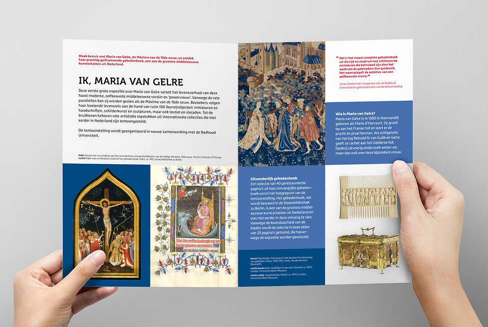 Tentoonstellingsfolder Ik, Maria van Gelre