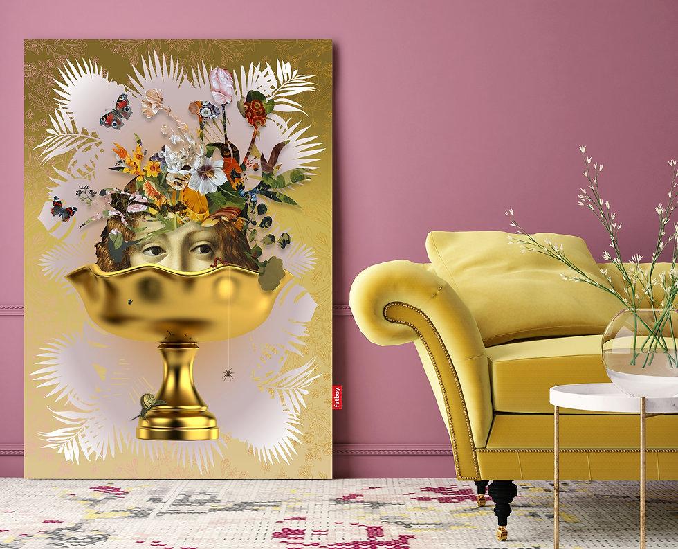 Fatboy, wall decorations, wall design, Van Riet Ontwerpers