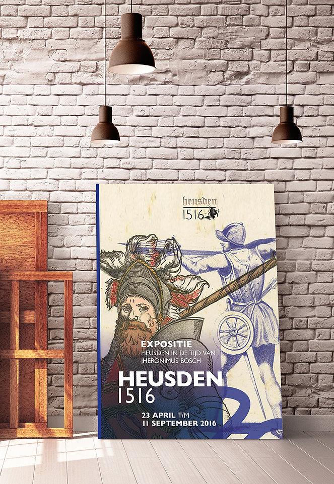 Ontwerp affiche | Heusden 1516 | Van Riet Ontwerpers