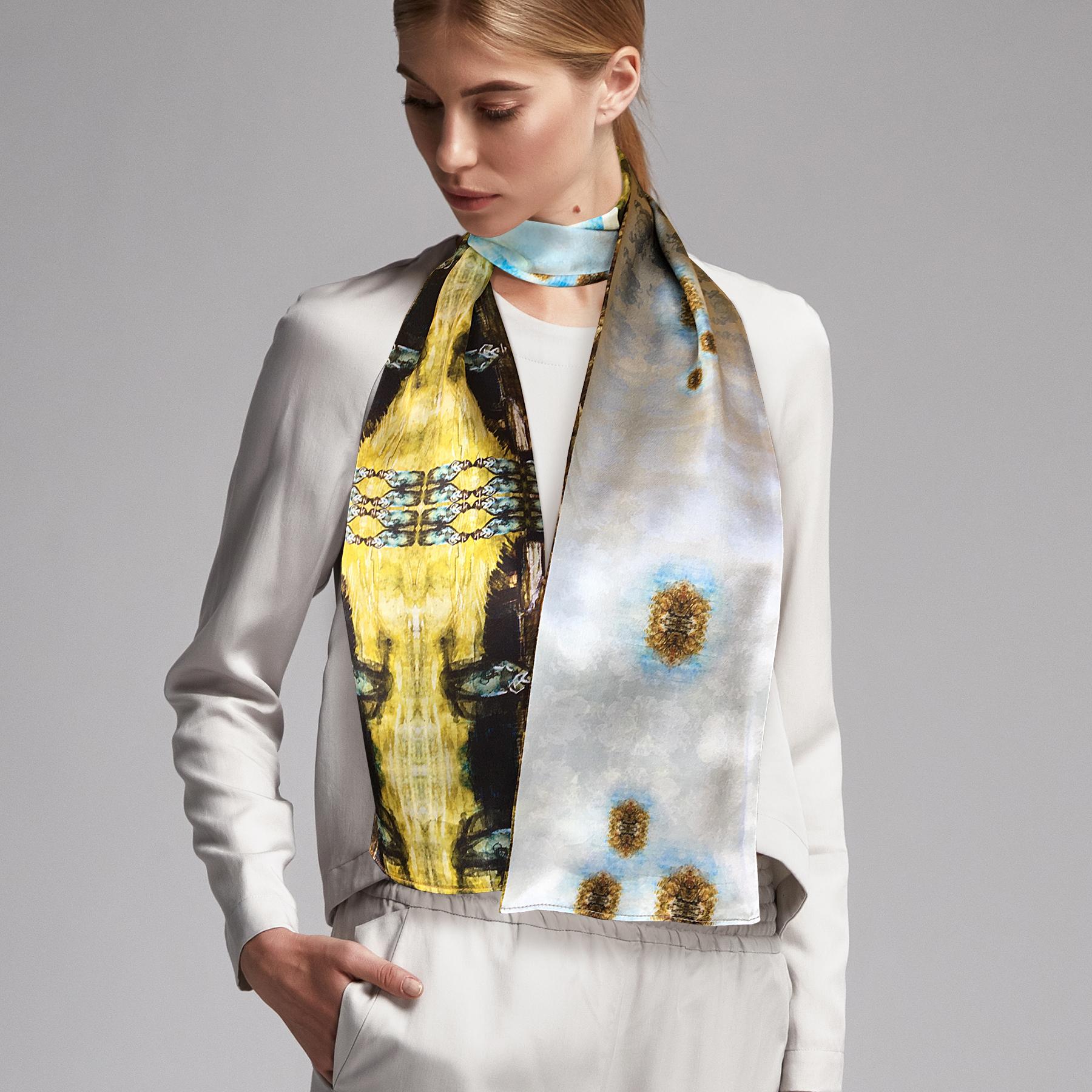 Ontwerp van zijden shawls