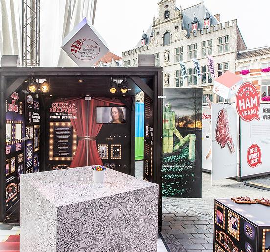 Ontwerp van informatiestand Cultuur Bergen op Zoom
