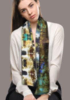Ontwerp van de zijden shawl, lage landen, West Fries Museum, Van Riet Ontwerpers
