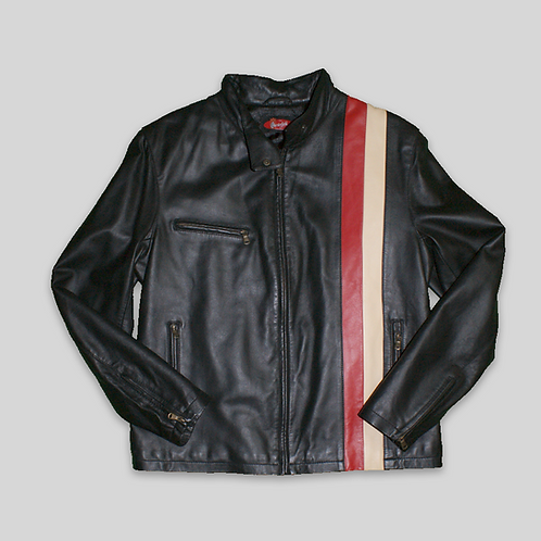 CHAQUETA RETRO PIEL CHESTERFIELD CAFE RACER 90'S