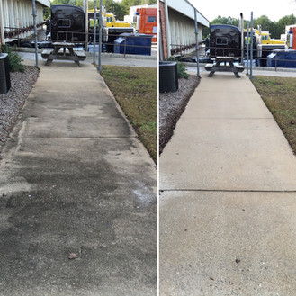Before & After Commercial Sidewalk Clean
