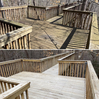 3-10-21 Before and After Wood Walkway (1