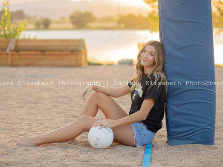 Maddie's Volleyball Senior Pictures in Loveland Colorado | LHS Class of 2021
