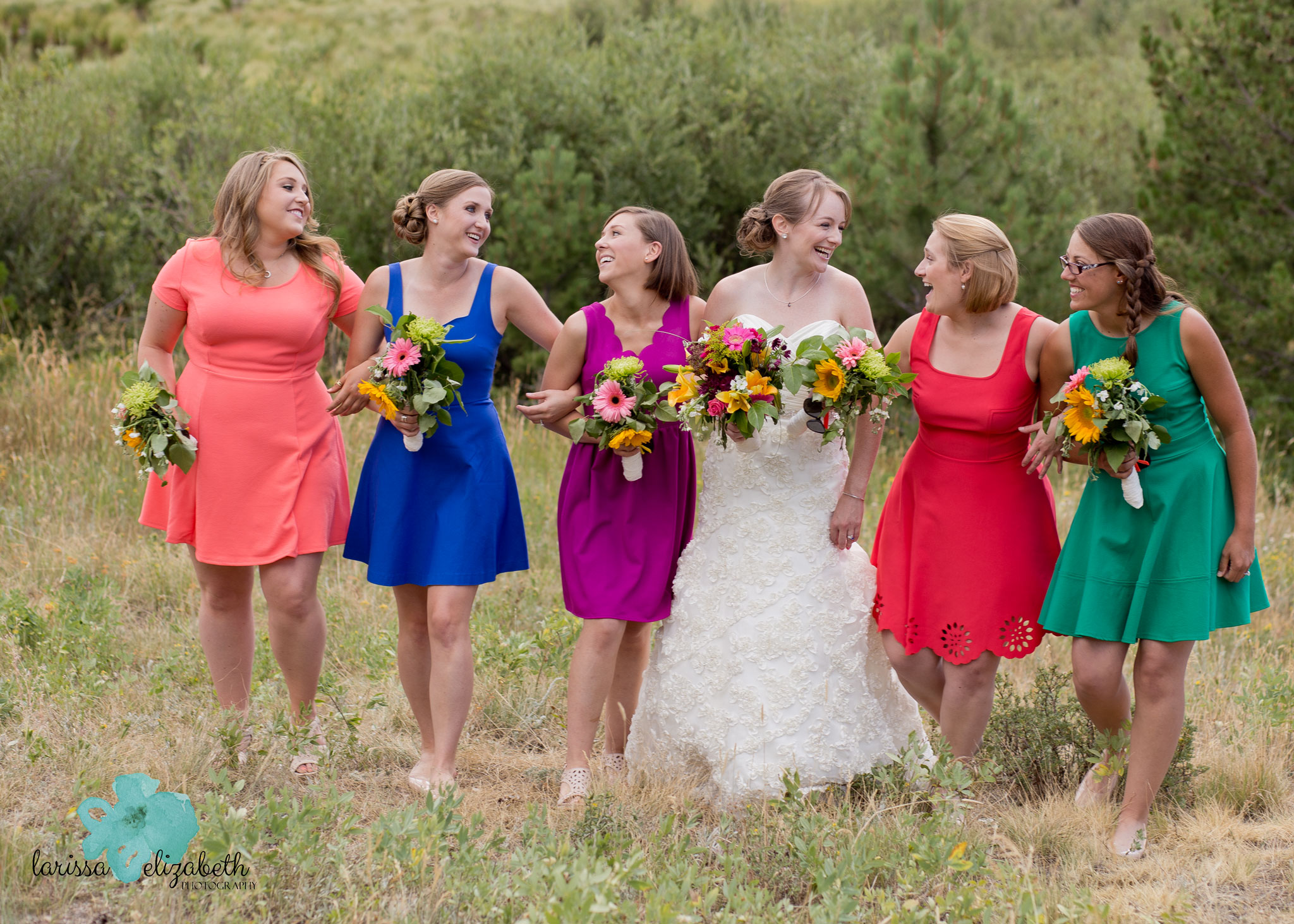 Gorgeous--bright--bridesmai