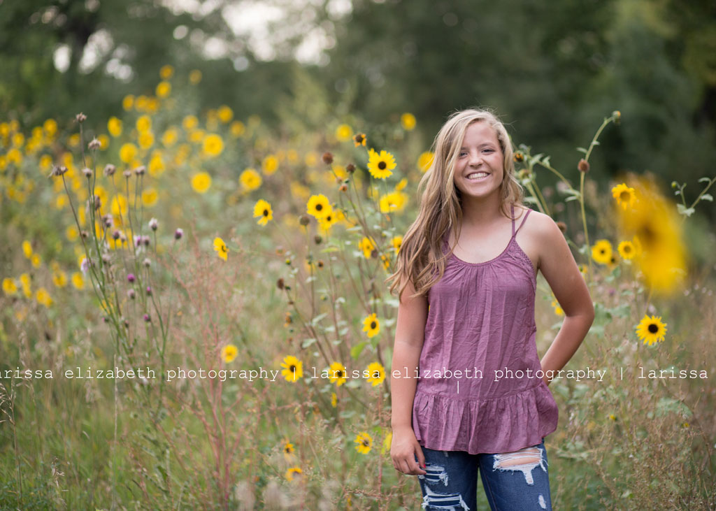 sunflower-senior-session
