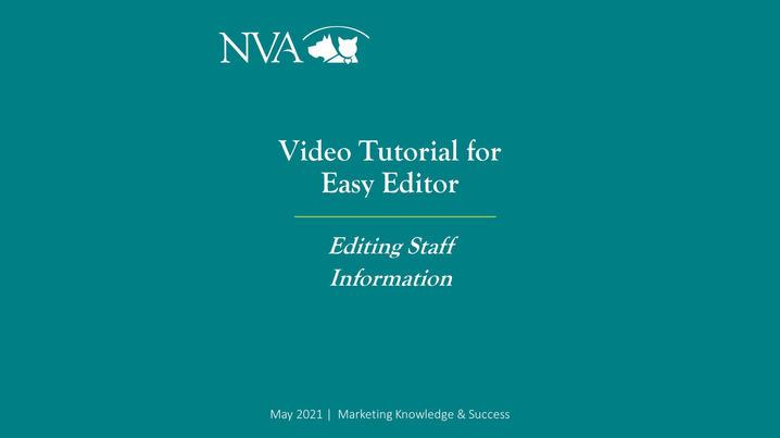 Editing Staff Information using Easy Editor