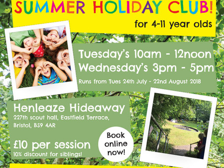 Forest School Club in Bristol this summer