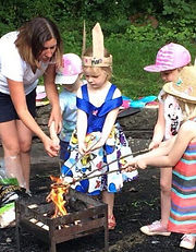 Kids woodland party bristol