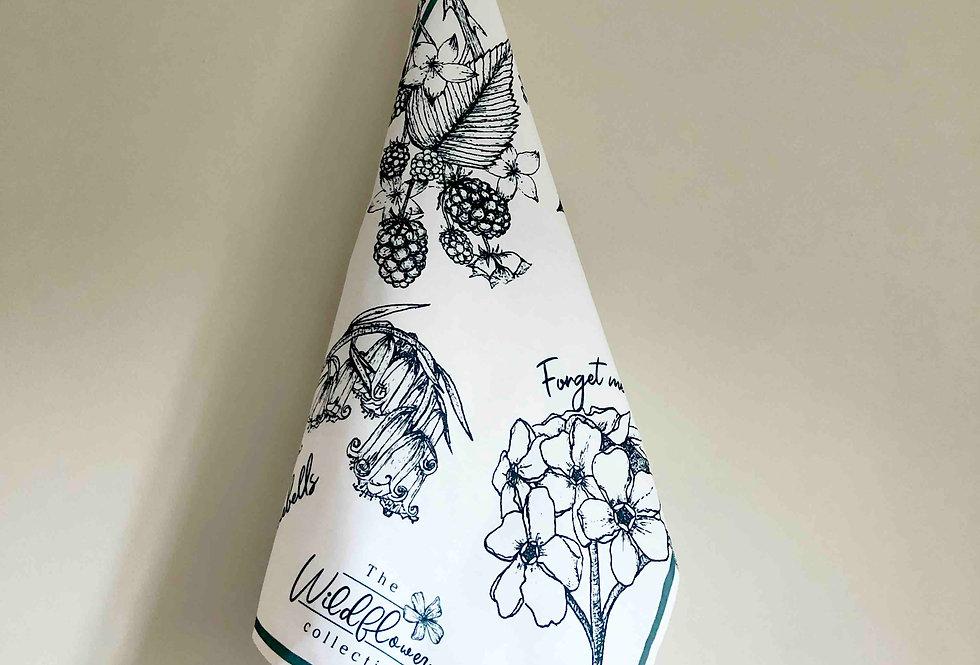 Wildflower Design Cotton Tea towel