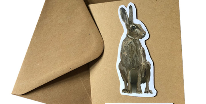"""Hare Birthday Card - """"have a hoppin' great birthday"""""""