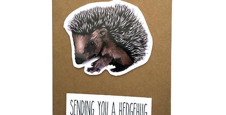 Hedgehog card - Sending you a hedgehug