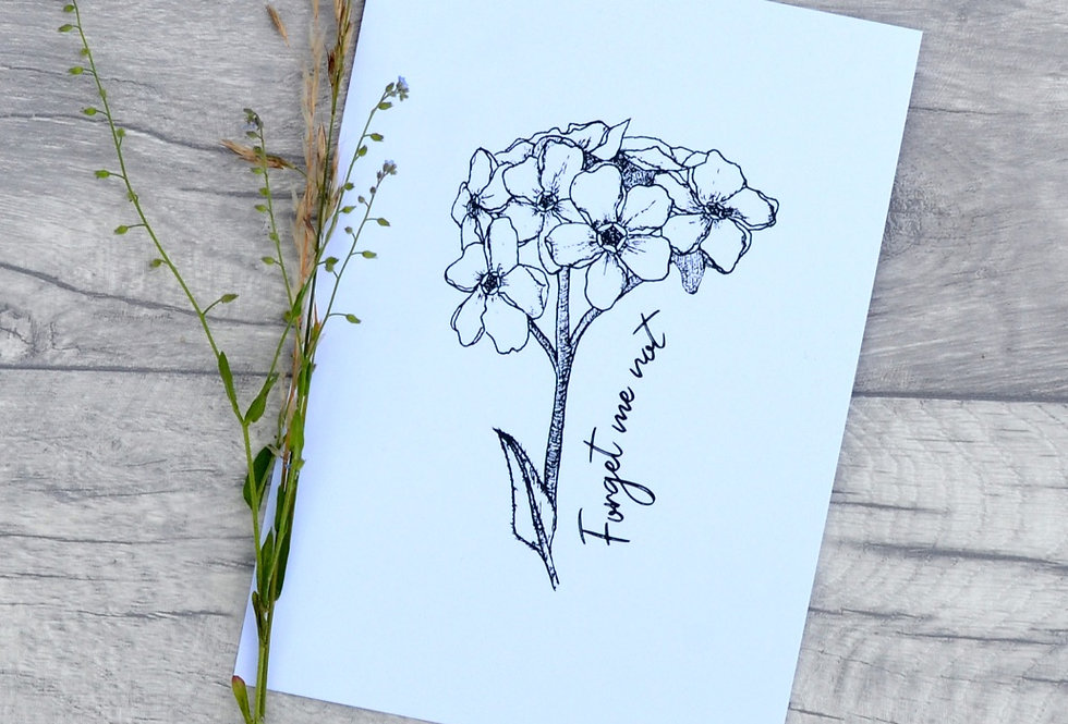 Forget me not illustration print  - Crisp