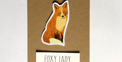 Fox - Foxy lady card