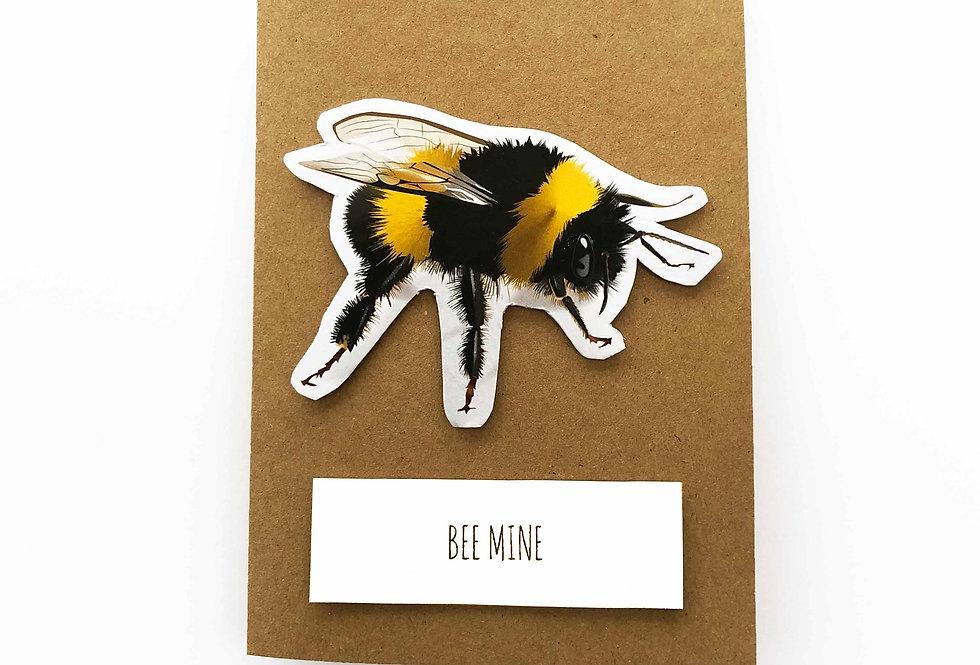 Bee Valentines card 'Bee mine'