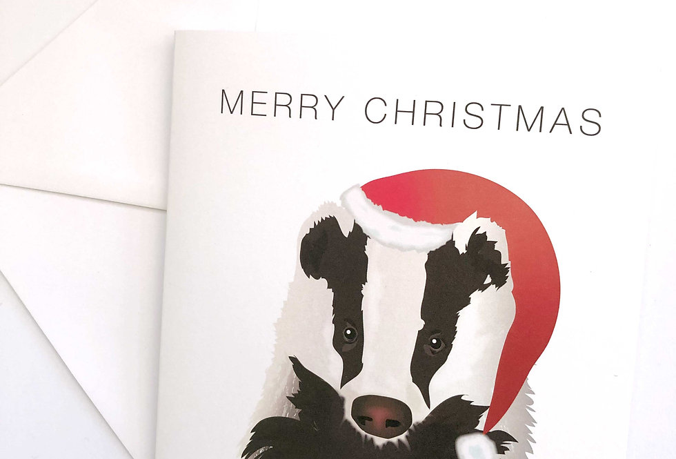 Badger Christmas card