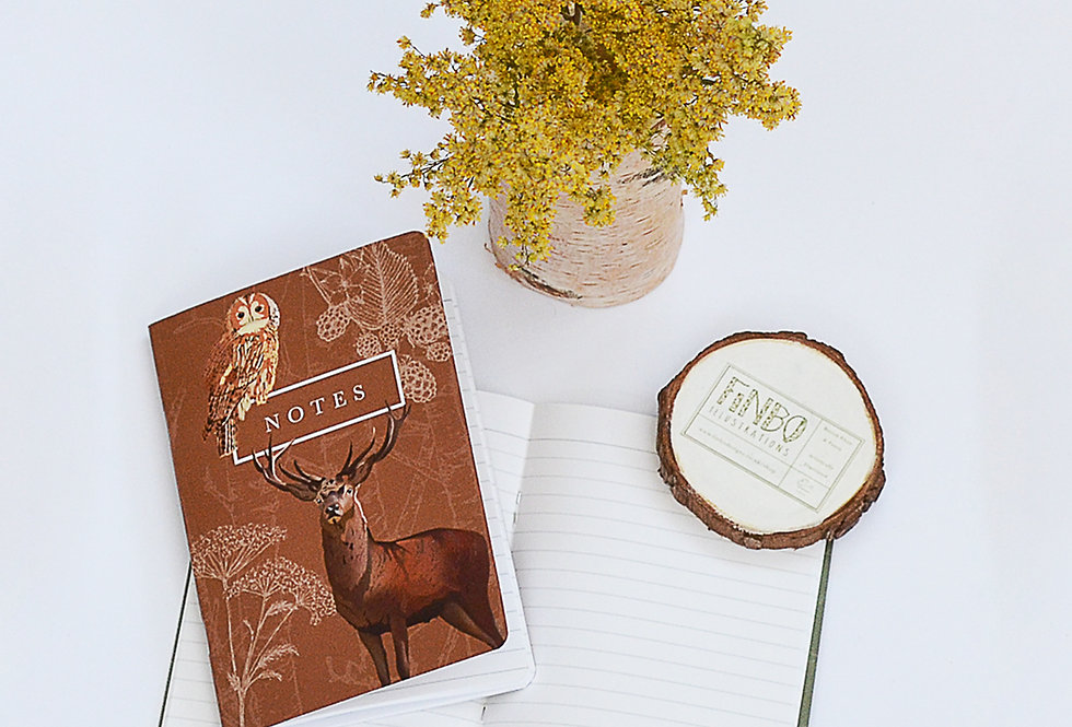 Stag Notebook - A6 lined
