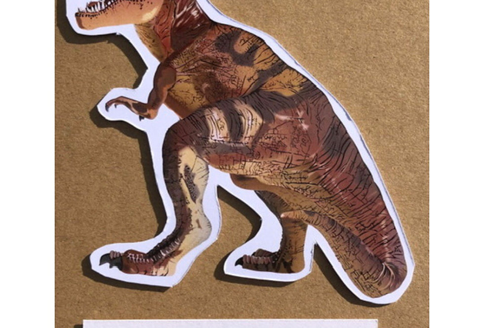 Dinosaur - 'Have a roarsome birthday' card