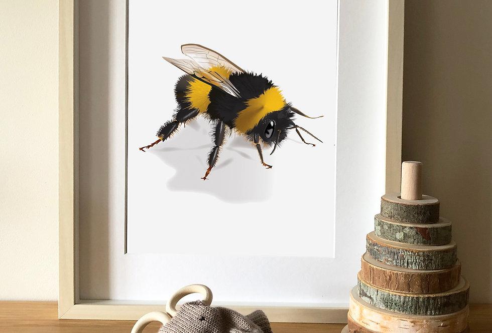 Queen Bee Illustration print