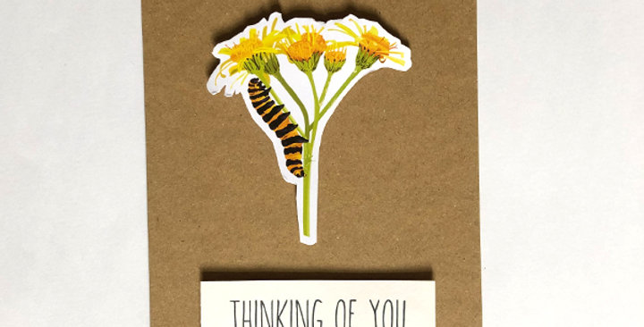 Caterpillar - Thinking of you card