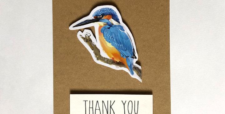Kingfisher Thank you card