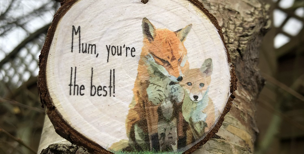 Mother's Day hanging fox decoration