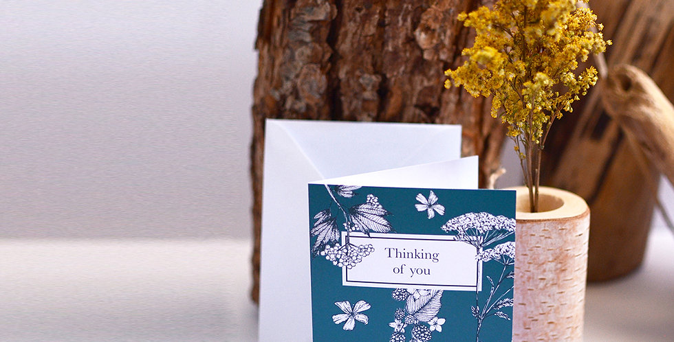 Thinking of you, British wildflower card