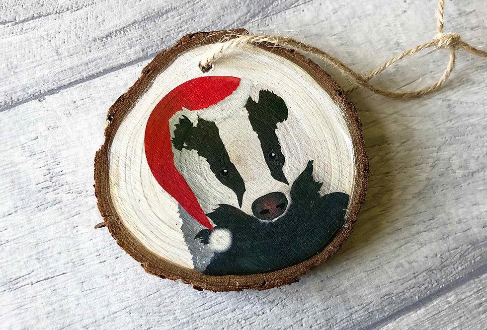 Badger Christmas Tree Decoration