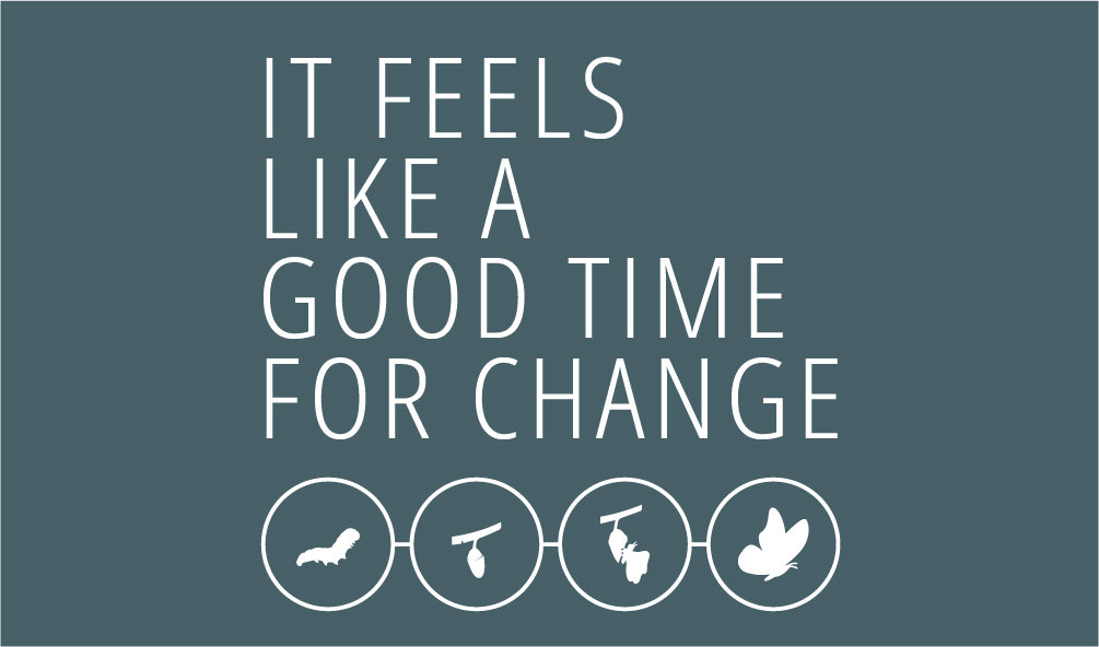 It feels like time for change square wid