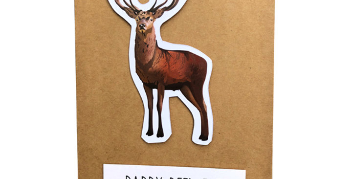 Red Deer stag - Daddy Deer-est card