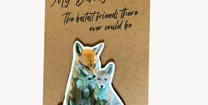 Fox and cub with quote - Dad's birthday or new Dad card