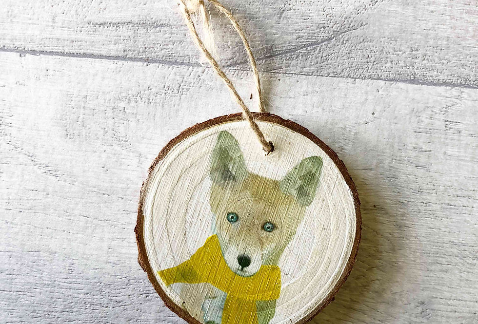 Fox Cub Christmas Tree Decoration