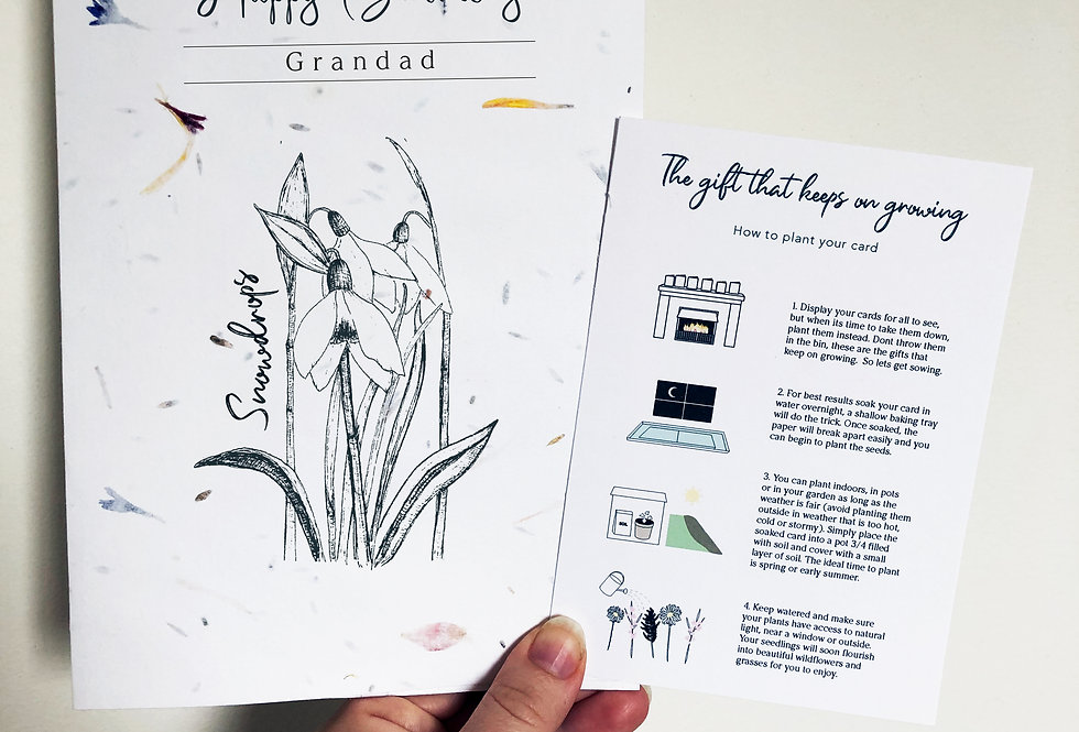Plantable seed card - Snowdrops
