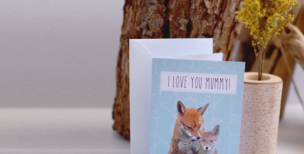 I love you Mummy, Mother's Day Card