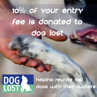 10% of your entry fee goes to Dog lost.p
