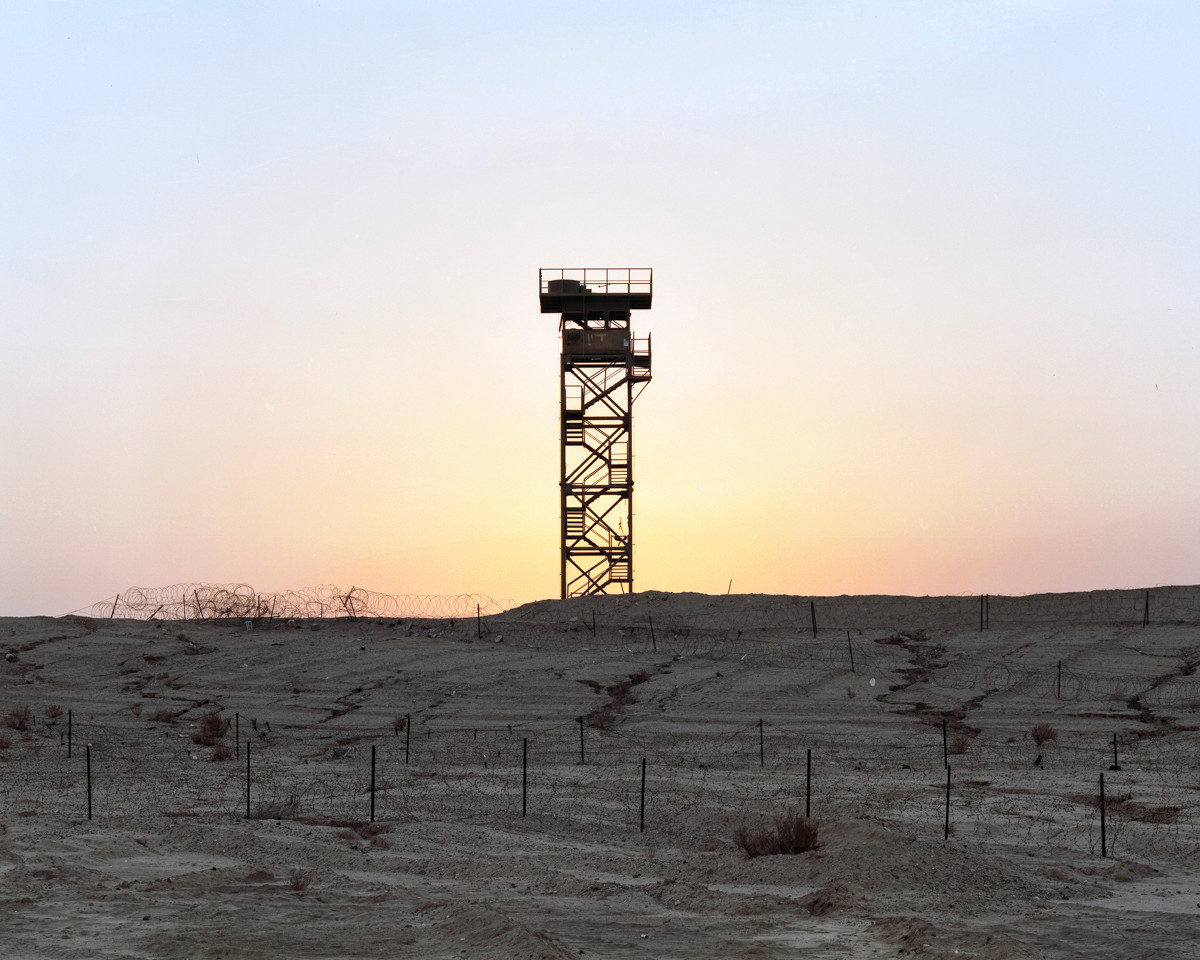 """Watch Tower (sunset), """"The Peace Road"""", The Arava, 2016"""