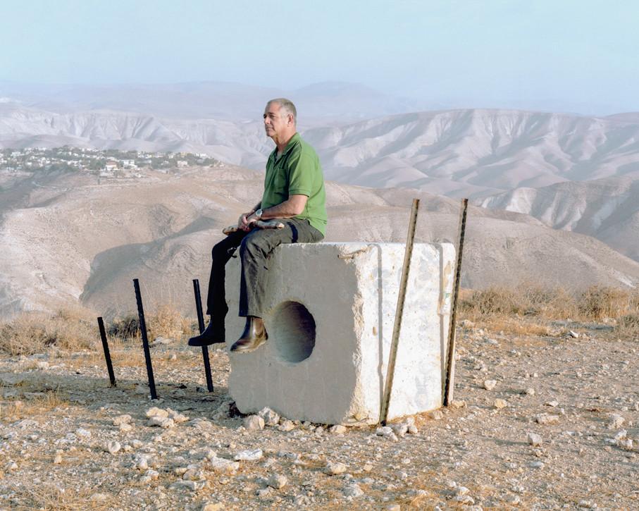 Man On Rock, Alon, West Bank, 2016