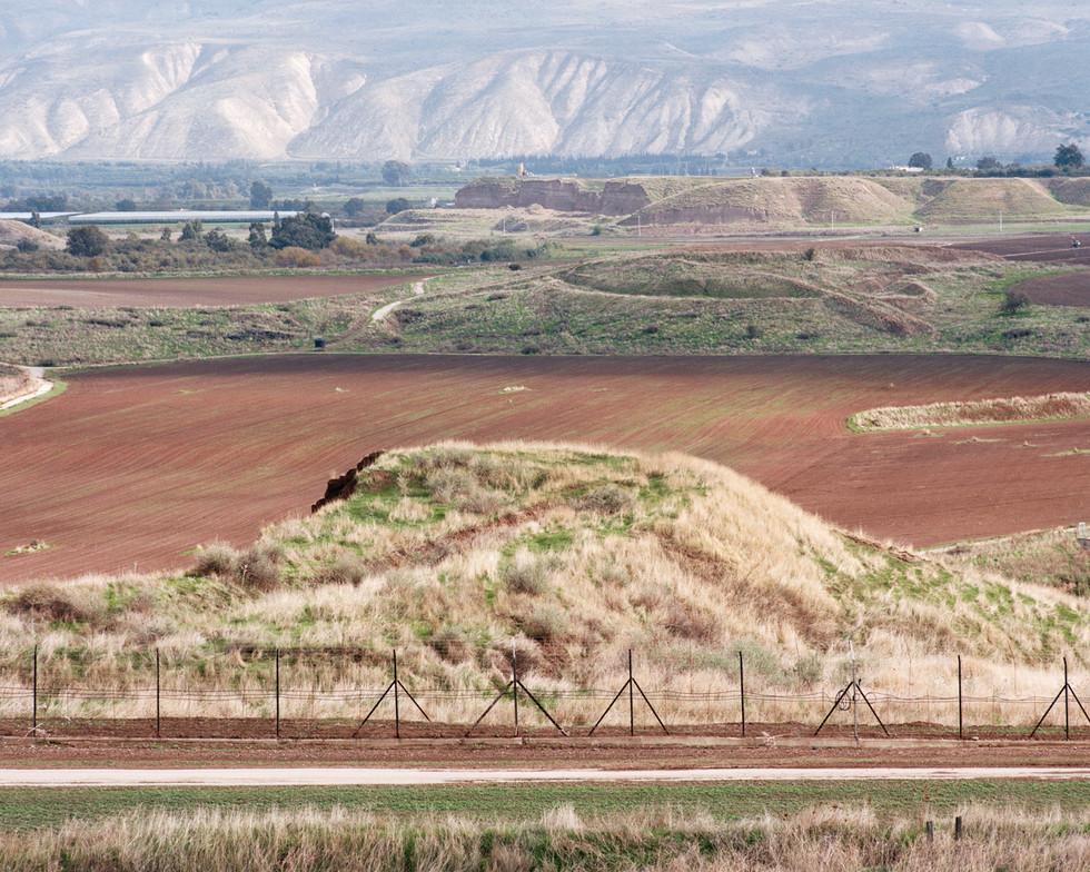 Jordanian Border, View from Highway 90 Across The Border, Jordan Valley, 2013
