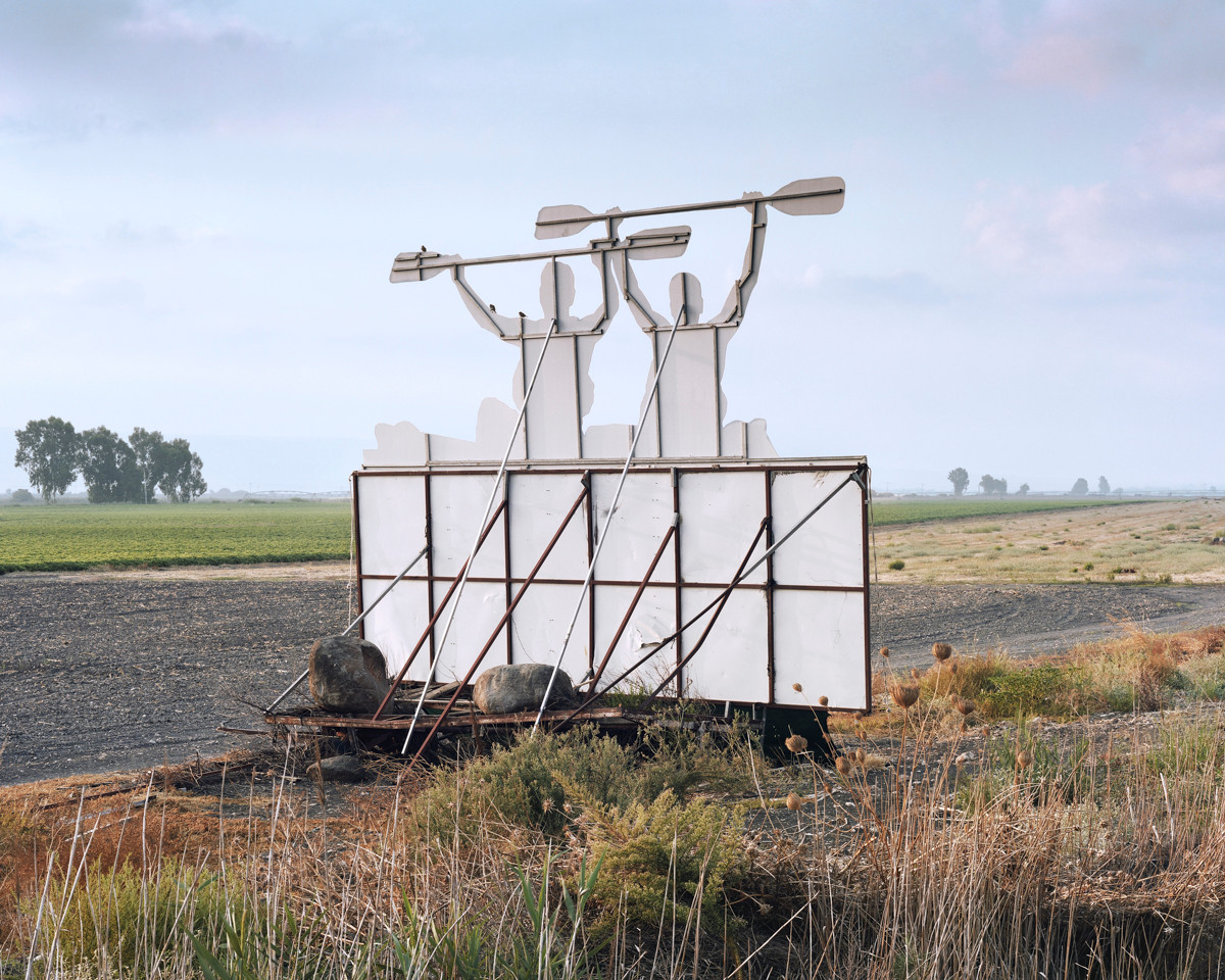 Transformed Agricultural Machine (Kayak Road Sign Facing Highway 90), Hula Valley, 2016