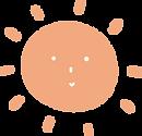 Sol laranja com rostinho infantil para comunicar a promoção de Dia das Crianças na Urikana Boutique Hotel