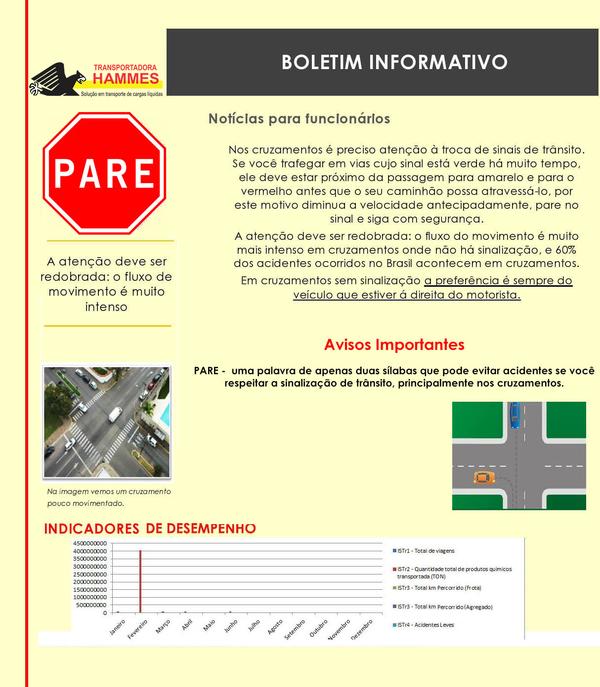 Atenção nos cruzamentos