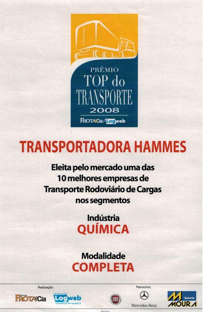 Prêmio Top do Transporte 2008